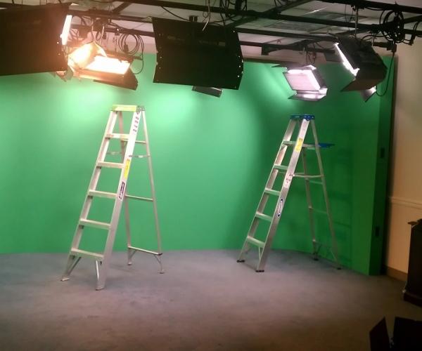Permanent Green Screen Installation in Boston, MA